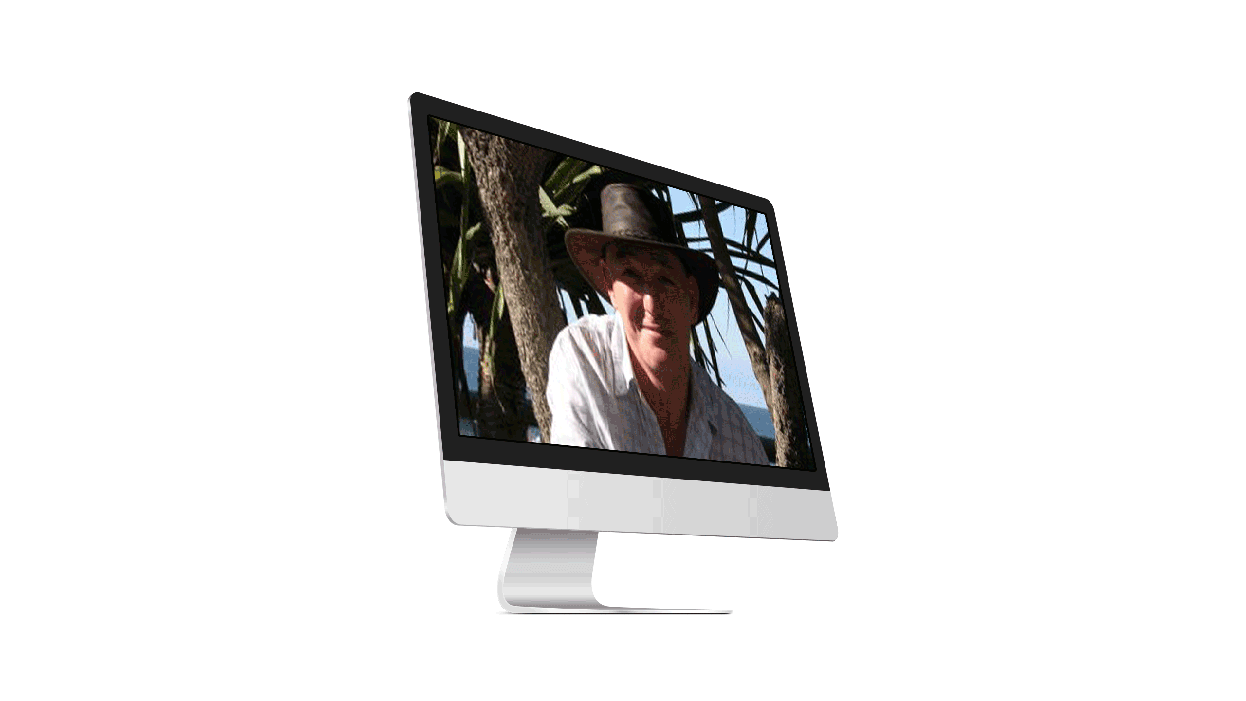 image of founder on an imac
